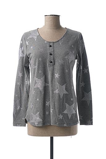 T-shirt manches longues gris FELINO pour femme