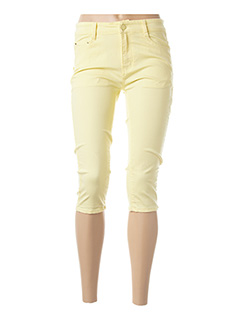 Corsaire jaune B.S JEANS pour femme