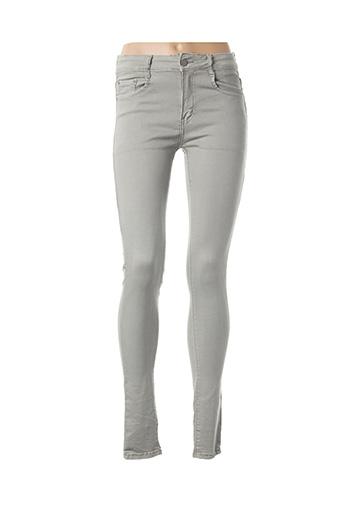 Pantalon casual gris B.S JEANS pour femme