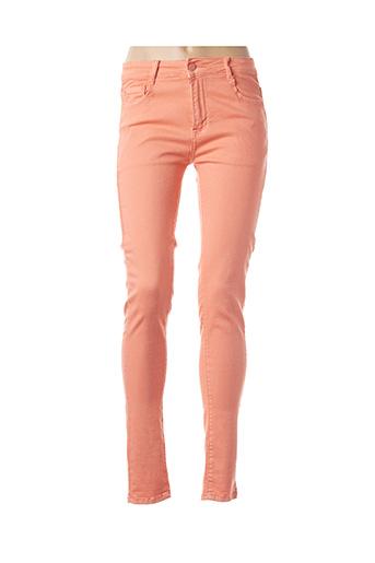 Pantalon casual orange B.S JEANS pour femme