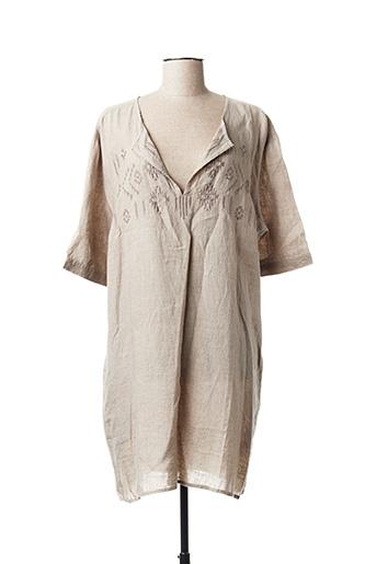 Robe courte beige DRESS ADDICT pour femme