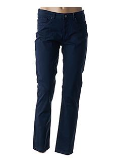 Pantalon casual bleu MIA SOANA pour femme
