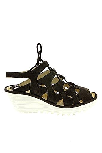Sandales/Nu pieds noir FLY LONDON pour femme