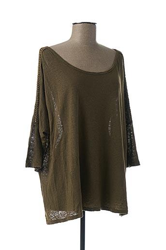 T-shirt manches courtes vert PAKO LITTO pour femme