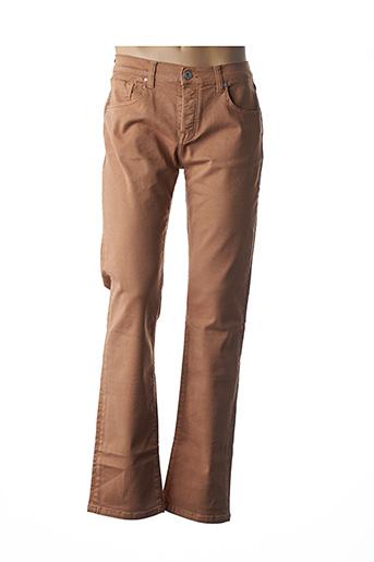 Jeans coupe droite marron DENIM STUDIO pour homme