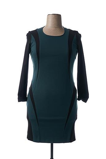 Robe mi-longue vert DIVAS pour femme