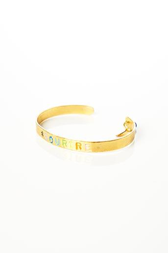 Bracelet Manchette jaune MIMILAMOUR pour femme