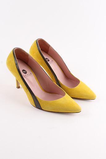 Escarpins jaune CORALIE MASSON pour femme
