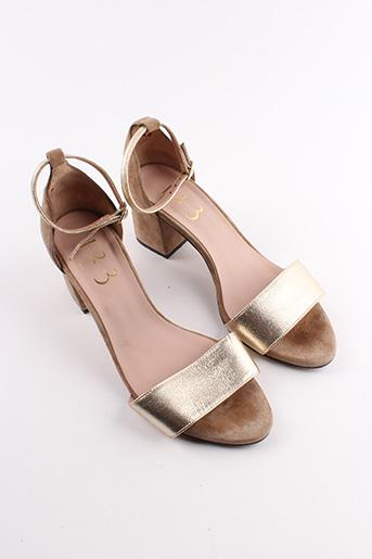 Sandales/Nu pieds beige MAISON 123 pour femme