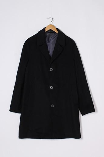 Manteau long noir MANGO pour homme