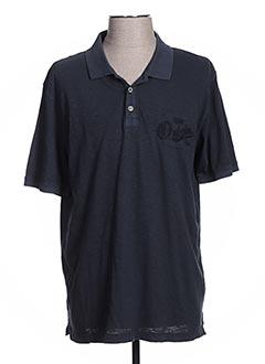 Polo manches courtes bleu CALAMAR pour homme