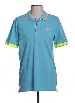 Polo manches courtes bleu GAUDI pour homme