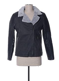 Veste simili cuir noir BECKARO pour fille