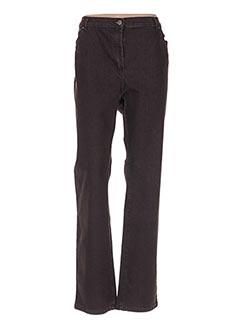 Jeans coupe droite marron KARTING pour femme