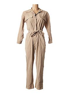 Combi-pantalon beige IMPERIAL pour femme
