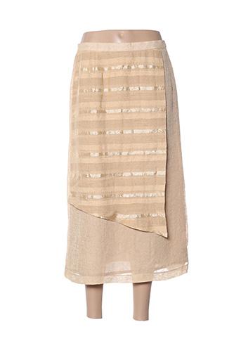 Jupe courte beige FRANCE RIVOIRE pour femme