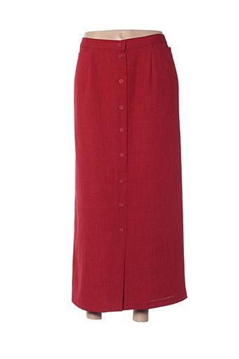 Jupe longue rouge CHRISTINE LAURE pour femme
