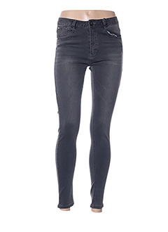 Jeans skinny gris BECKARO pour fille