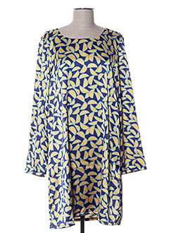 Robe courte jaune COMPAÑIA FANTASTICA pour femme
