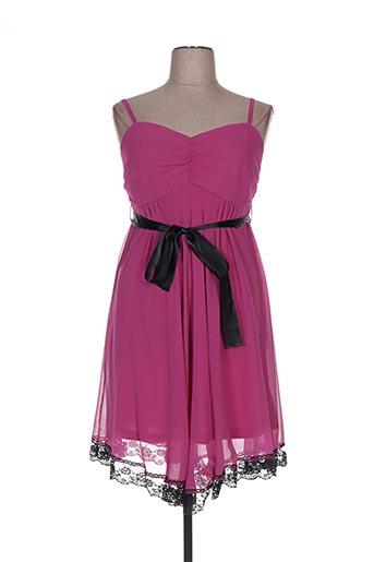 Robe mi-longue rose BON PRIX pour femme