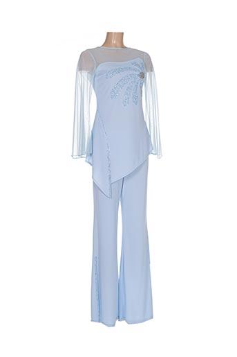 Top/pantalon bleu GOLD & LINE pour femme