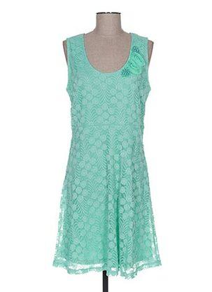 Robe mi-longue vert BODY FLIRT pour femme
