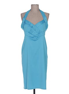 Robe mi-longue bleu BIANCA pour femme