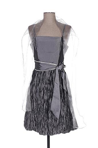 Robe mi-longue gris CC FASHION pour femme