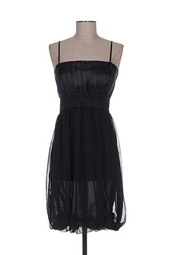 Robe mi-longue noir ANGELIE pour femme