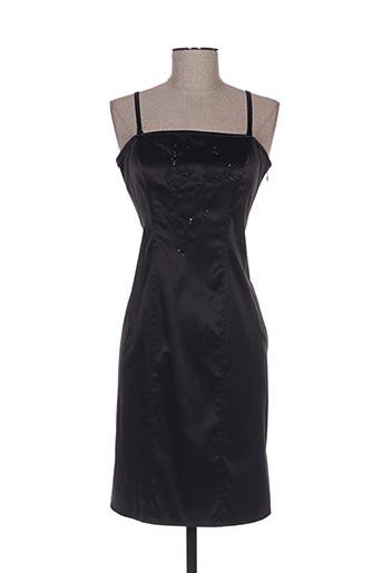 Robe mi-longue noir CAMAIEU pour femme