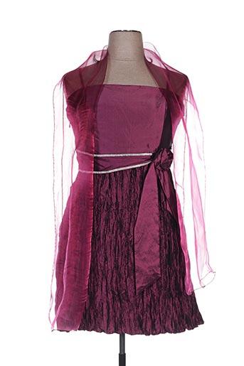 Robe mi-longue rose CC FASHION pour femme