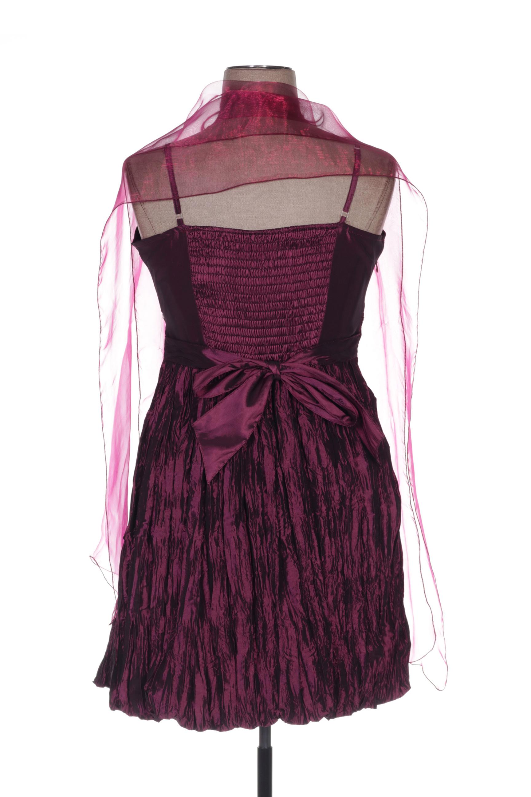 Cc Fashion Robes Mi Longues Femme De Couleur Rose En Soldes Pas Cher 1435629-rose00