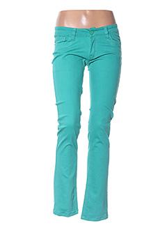 Pantalon casual vert GOLD SK pour femme