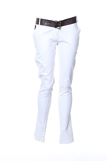 Pantalon 7/8 blanc CARLA GIANNINI pour femme