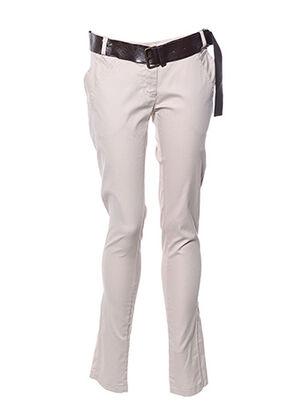 Pantalon 7/8 beige CARLA GIANNINI pour femme