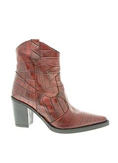 Bottines/Boots rouge EMANUELE CRASTO pour femme