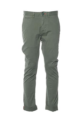 Pantalon casual vert SUPERDRY pour homme