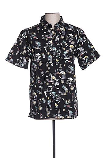 Chemise manches courtes noir SUPERDRY pour homme