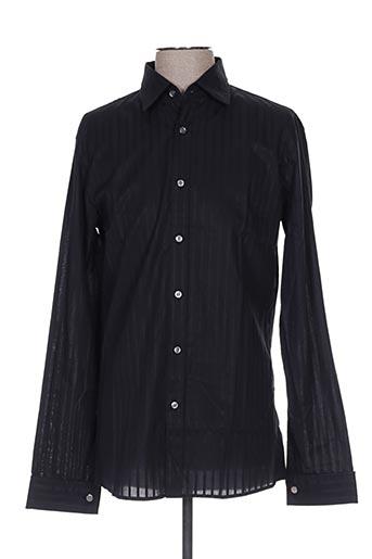 Chemise manches longues noir HUGO BOSS pour homme