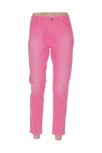 Pantalon 7/8 rose DESGASTE pour femme