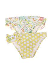 Bas de maillot de bain jaune MAYORAL pour fille seconde vue