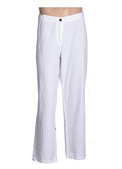 Pantalon casual blanc ESPRIT DE LA MER pour femme