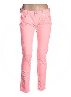 Pantalon casual rose LE TEMPS DES CERISES pour femme