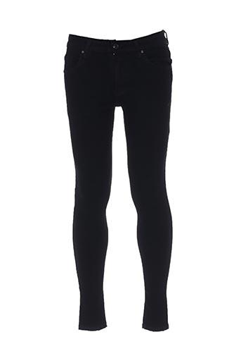 Pantalon casual noir BRUNO LEONI pour homme