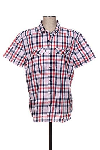 Chemise manches courtes rouge FREEMAN T.PORTER pour homme