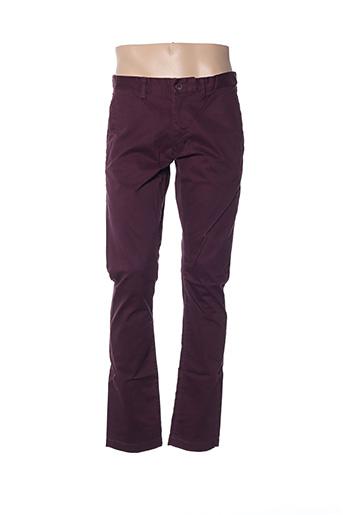 Pantalon casual violet TEDDY SMITH pour homme