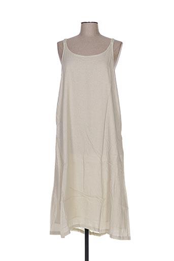 Robe mi-longue beige BOHEMIA pour femme