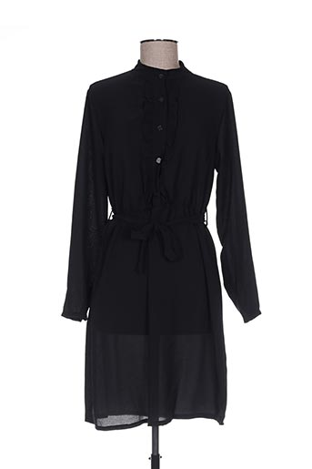 Robe mi-longue noir ANABELLE pour femme