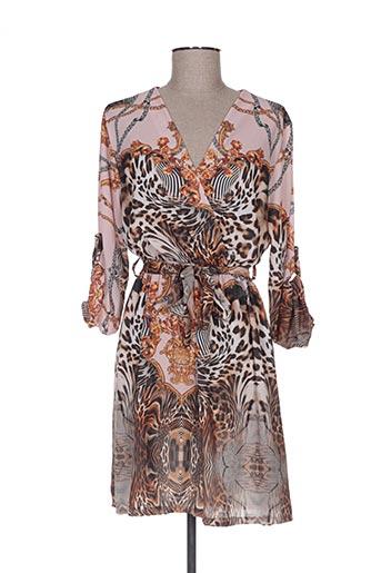 Robe mi-longue rose ANABELLE pour femme