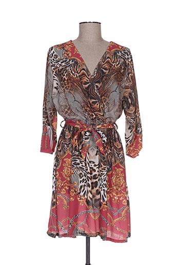Robe mi-longue rouge ANABELLE pour femme